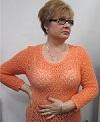 светло-оранжевый ажурный пуловер