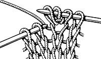 Вывязывание из одной петли нечетного числа петель