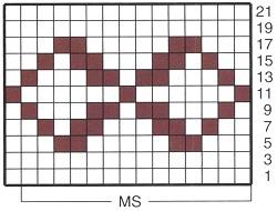 схема вязания жаккардового узора