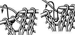 прибавление петель из протяжки