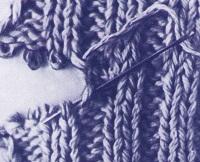 трикотажный шов для сшивания резинок 1х1 и 2х2