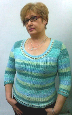 пестрый пуловер