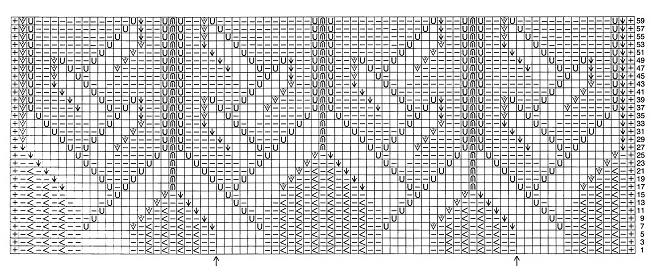 схема ажурного бордюра