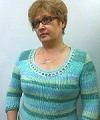 пестрый пуловер из хлопчатобумажной пряжи
