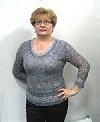меланжевый пуловер с ажурными рукавами
