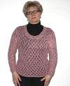 ажурный пуловер из меланжевой пряжи