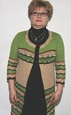 кардиган с ажурными полосами