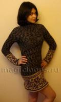 платье с жаккардовой каймой