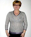 пуловер из серебристо-сиреневой пряжи