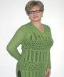 зеленый ажурный пуловер