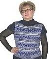 жаккардовый пуловер с короткими рукавами