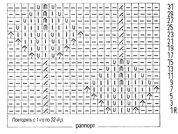 схема ажурного узора 2